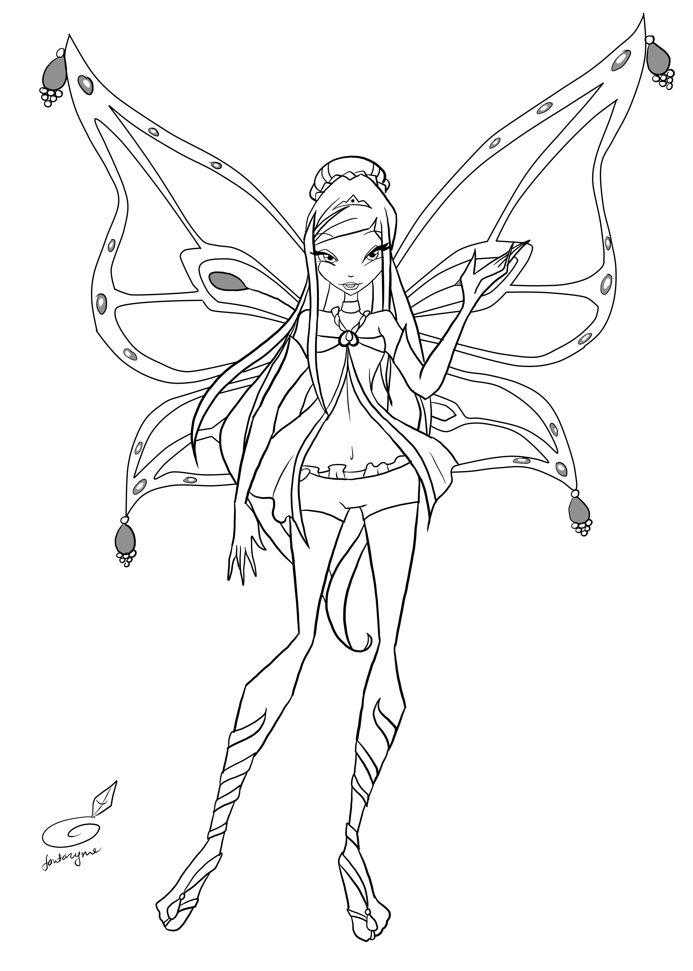 Coloring pages winx coloring pages breadedcat free printable