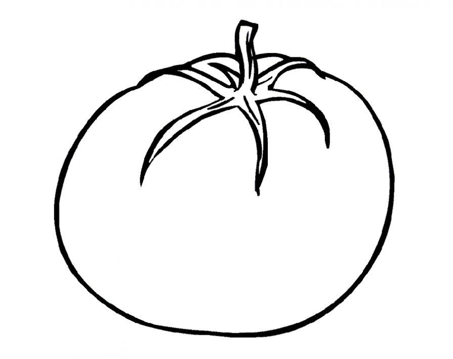 dibujo tomate para colorear