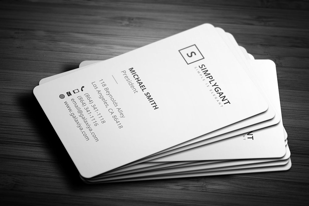 25 Vertical Business Card Mockups and Templates For Business - Colorlib
