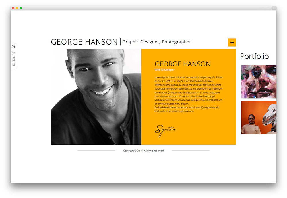 Profession-horizontal-resume-themejpg (1000×692) design - online resume portfolio