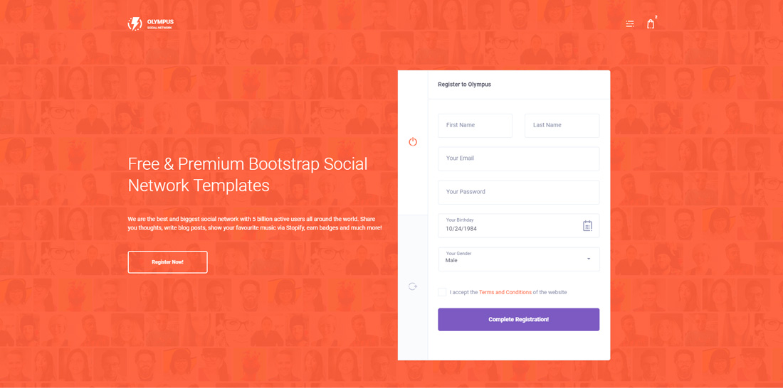 17 Best Free  Premium Bootstrap Social Network Templates 2019