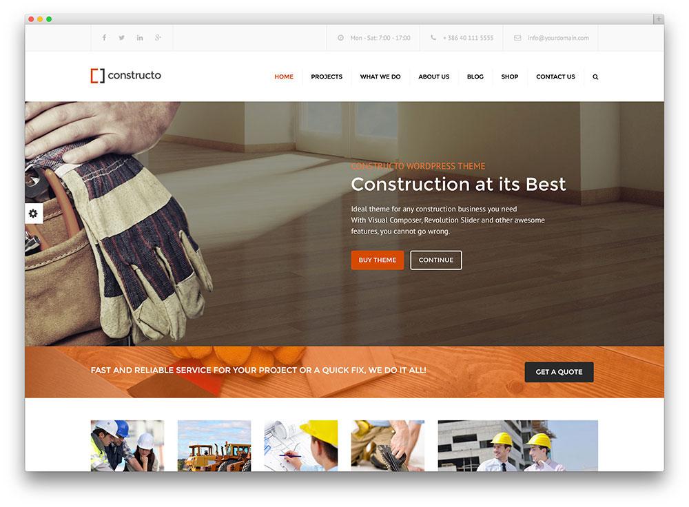 48 Best Construction Company WordPress Themes 2019 - colorlib