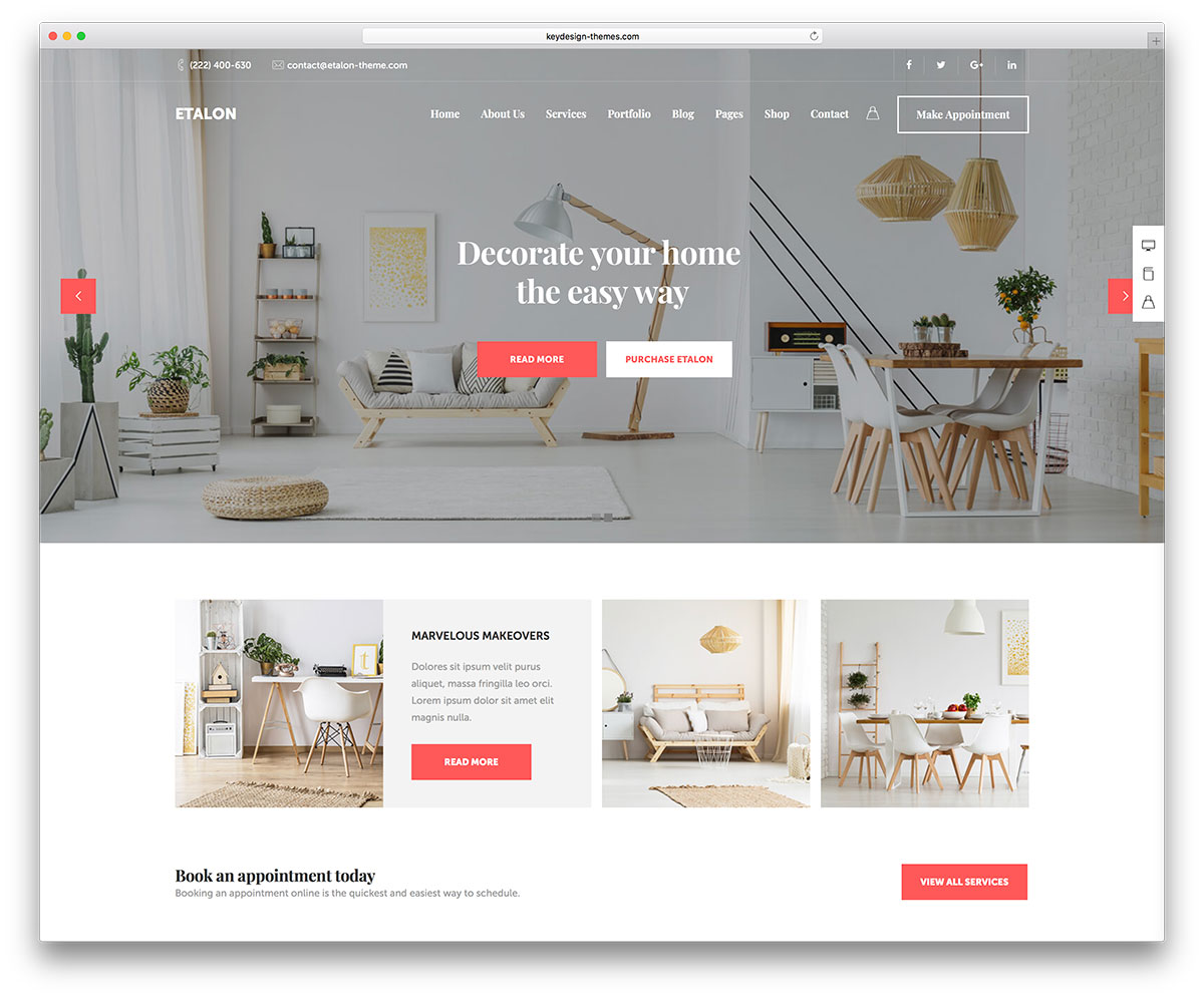Plan Decoration Interieur 20 Best Interior Design Wordpress Themes 2019 Colorlib