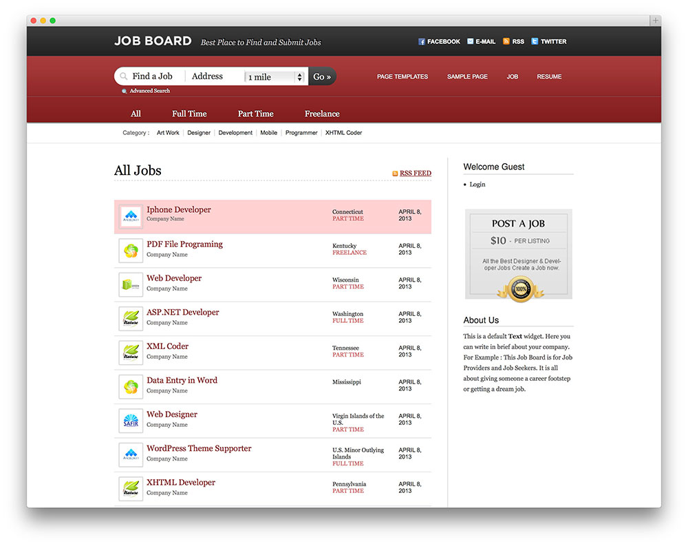 Indeed Stellenangebote 23 Best Job Board Themes And Plugins For Wordpress 2019 Colorlib