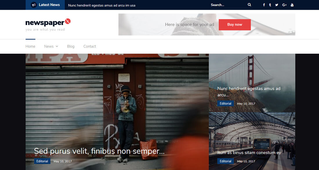 28 Best Free News Website Templates 2019 - Colorlib
