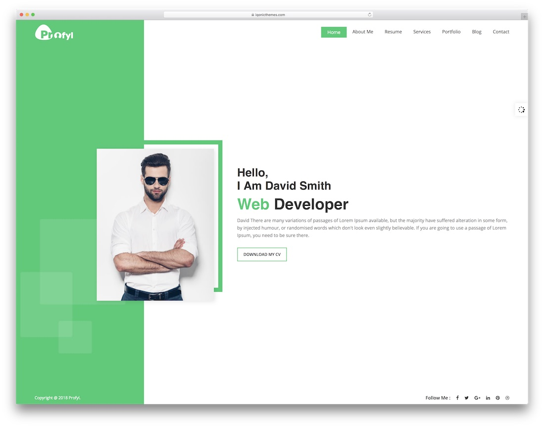 html5 template for resume