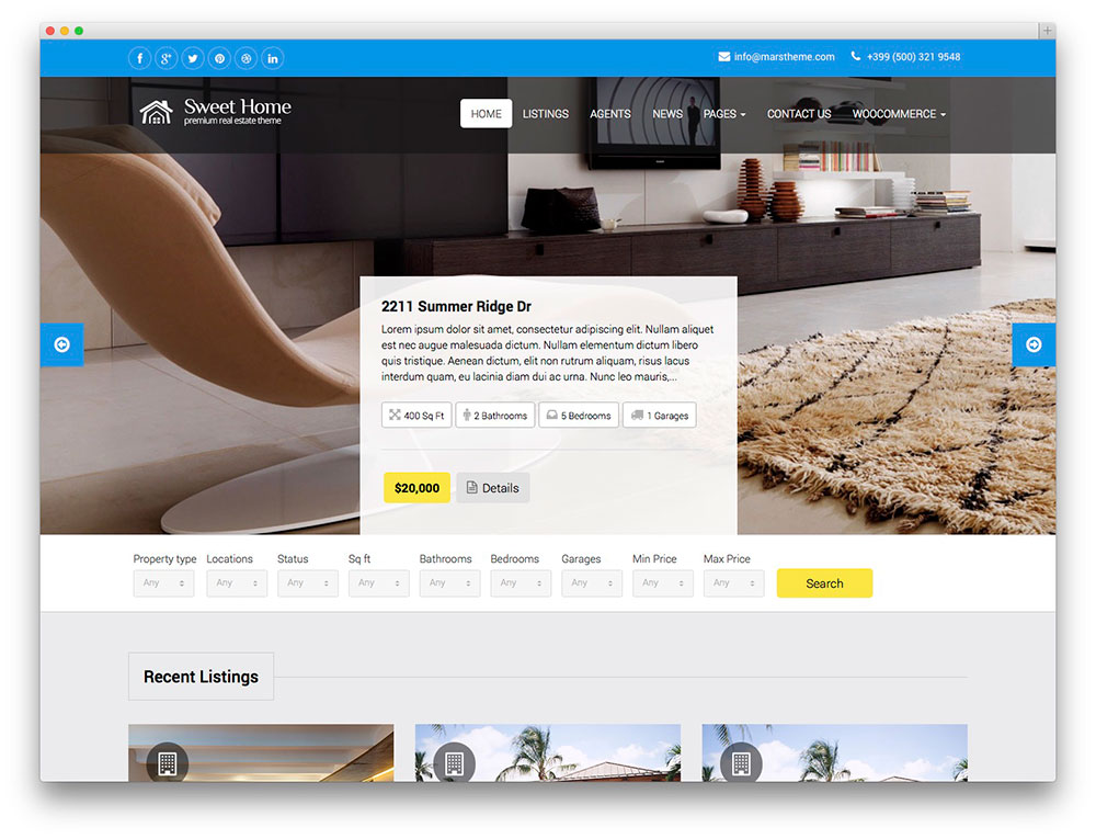 49 Best Real Estate WordPress Themes For Agencies, Realtors and ...