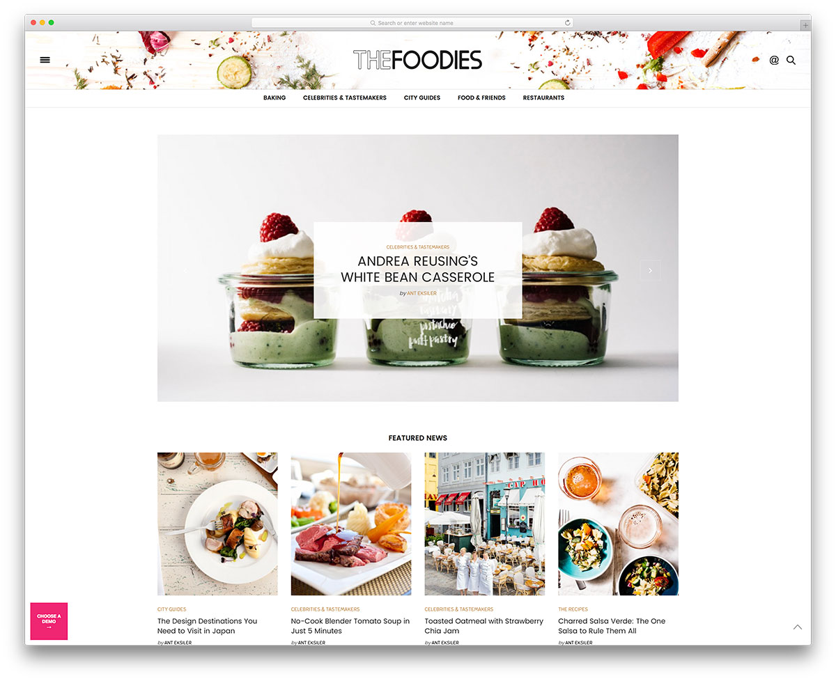Blogspot Food Blog 31 Beautiful Wordpress Food Blog Themes 2020 Colorlib