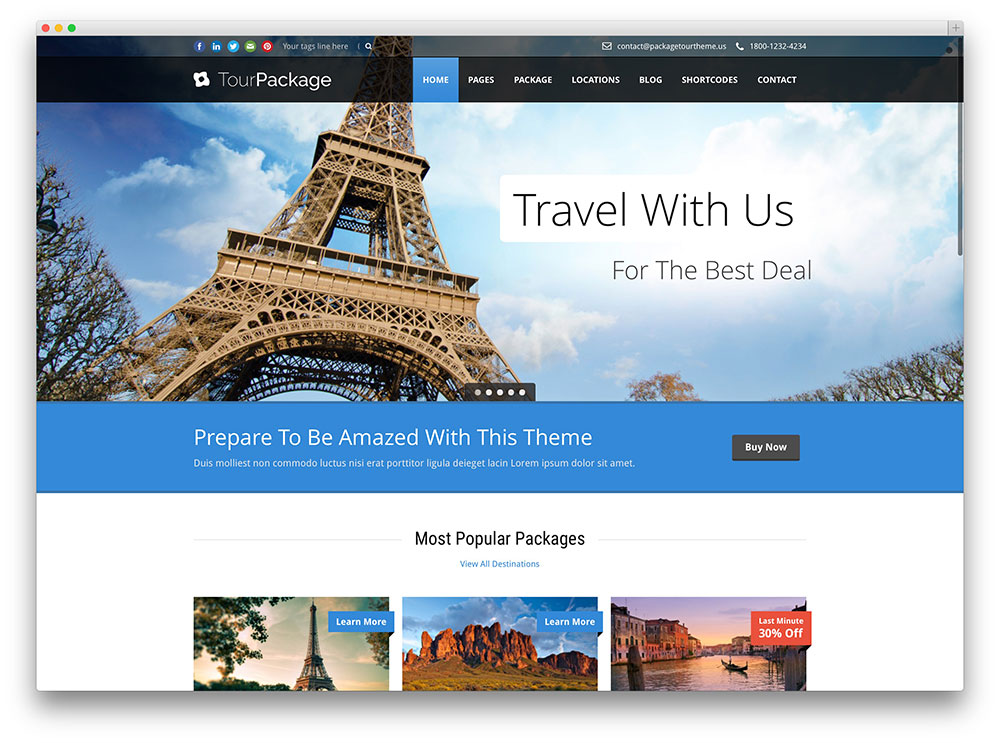 50+ Best WordPress Travel Themes For Blogs, Hotels and Agencies 2019