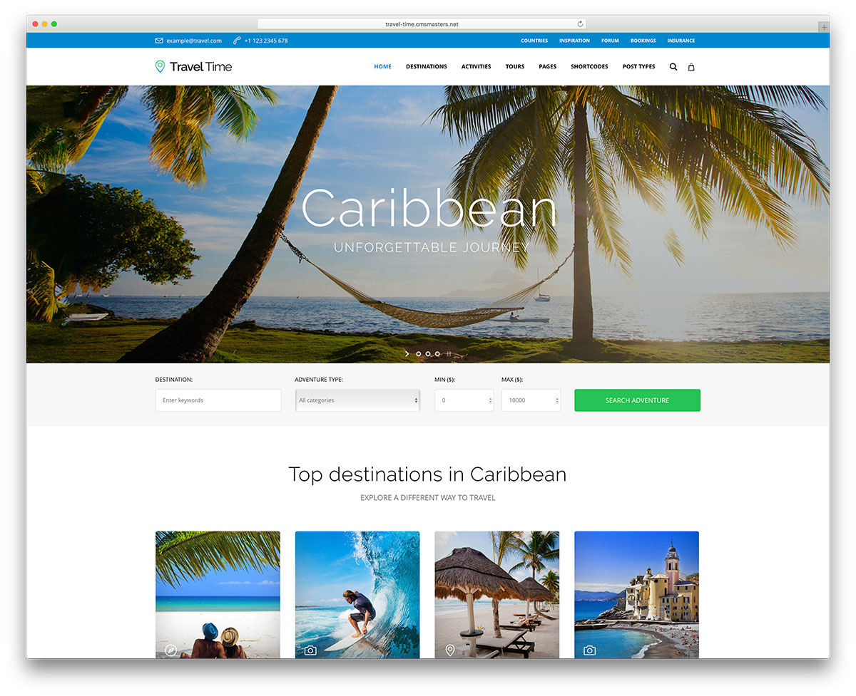 A Traveler Blog 50 Best Wordpress Travel Themes For Blogs Hotels And