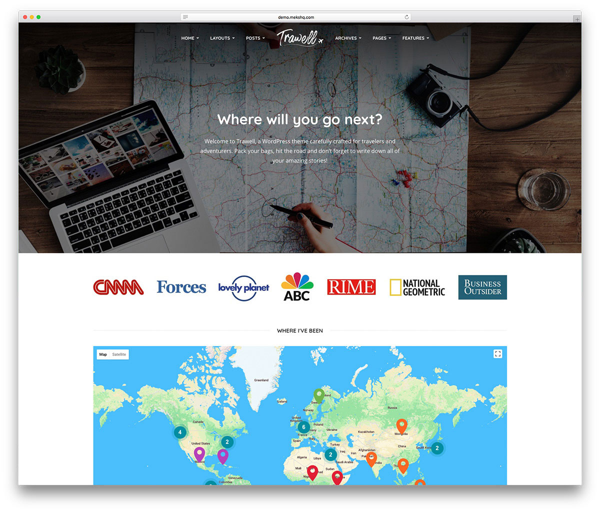 Travel Blog With Map 50 Best Wordpress Travel Themes For Blogs Hotels And