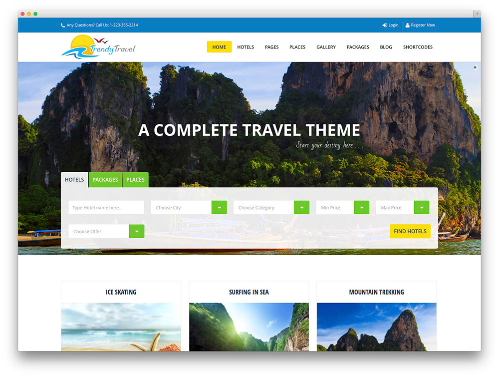 50+ Jaw-Dropping WordPress Travel Themes For Travel Agencies, Hotels - wordpress travel themes