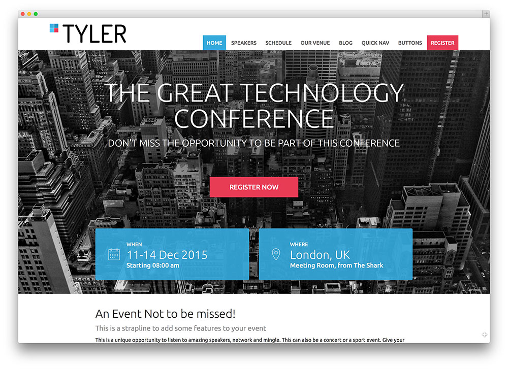 30+ Awesome WordPress Themes for Conference and Event 2019 - colorlib