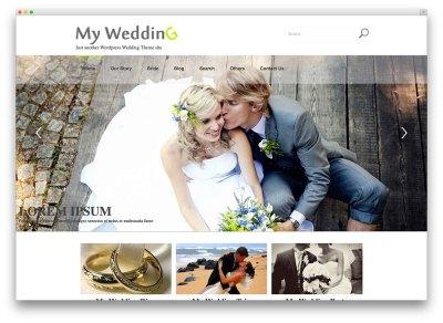 20+ Beautiful and Free WordPress Wedding Themes 2018 ...