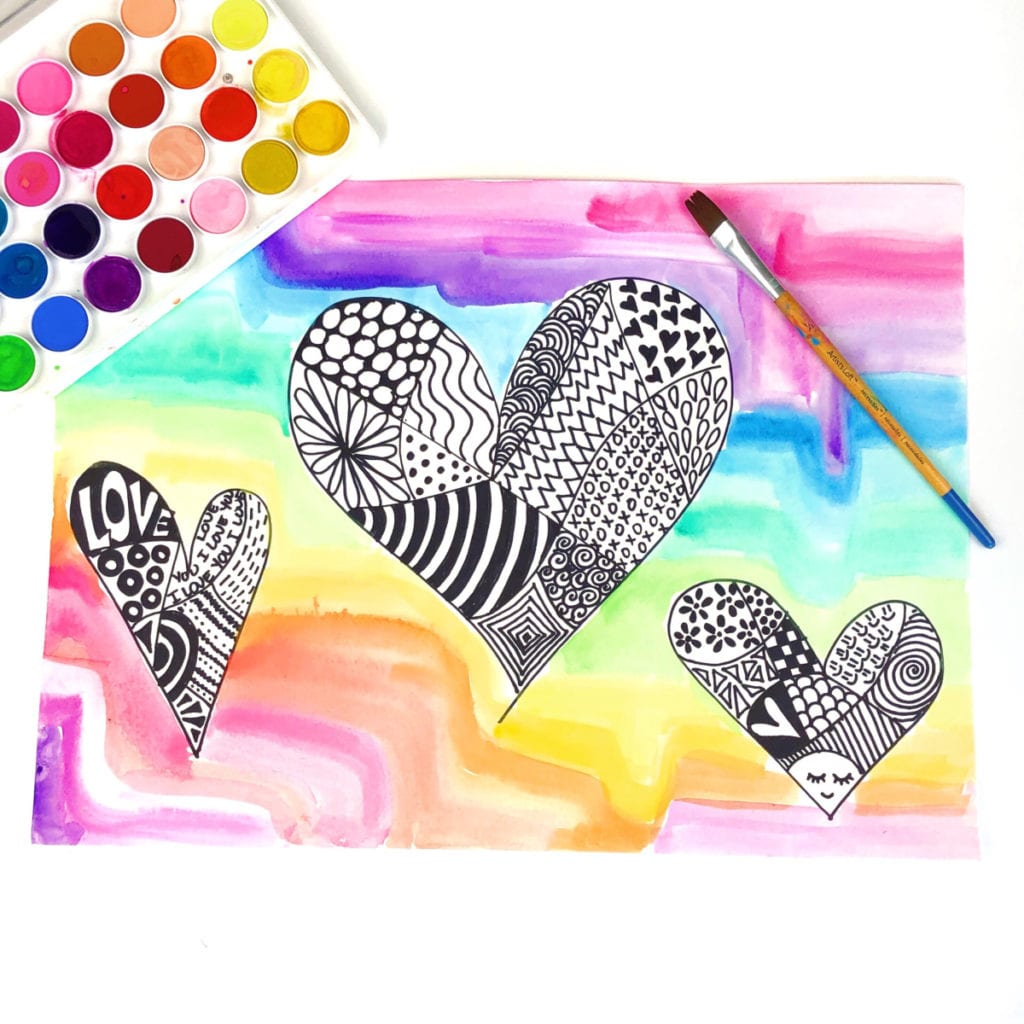Art Illustration Zentangle Art For Kids Project Color Made Happy