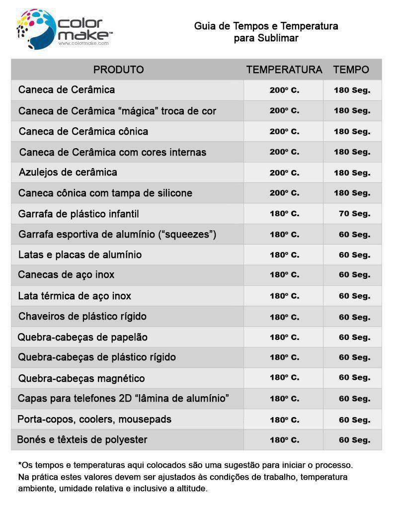 Tiempos-para-Sublimar-Port  TEMPOS E TEMPERATURAS PARA SUBLIMAR Tiempos para Sublimar Port