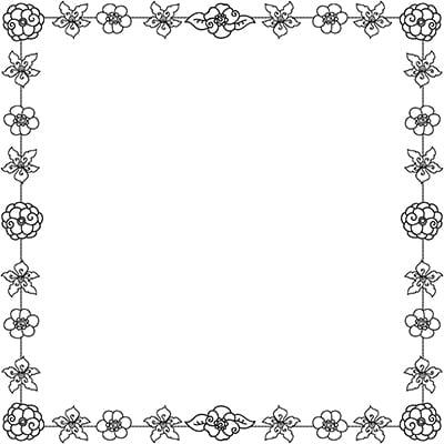 PLR Flowery Frames Coloring Book Kit Color Me Positive PLR - word design frames