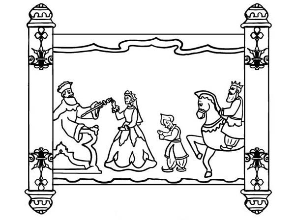Scroll Of Purim Holiday Coloring Page - Download  Print Online