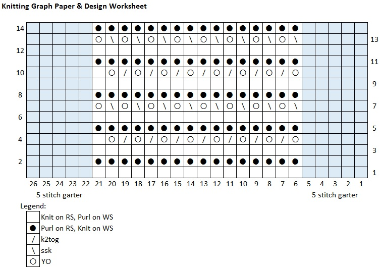 Create a Knitted Design Chart using an Excel Spreadsheet - Making Graph Paper In Word