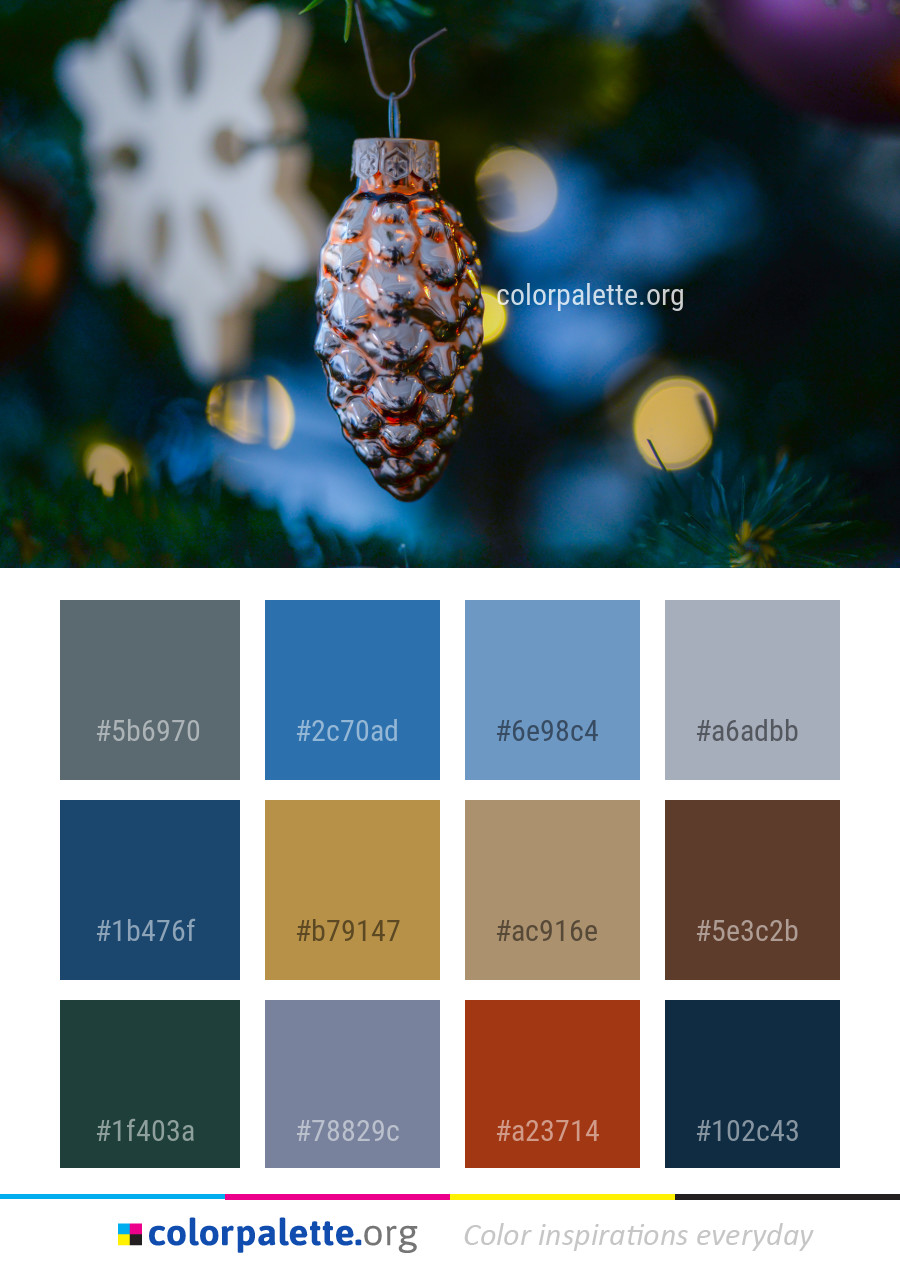 Palettes Décoration Christmas Decoration Branch Tree Color Palette Colorpalette Org