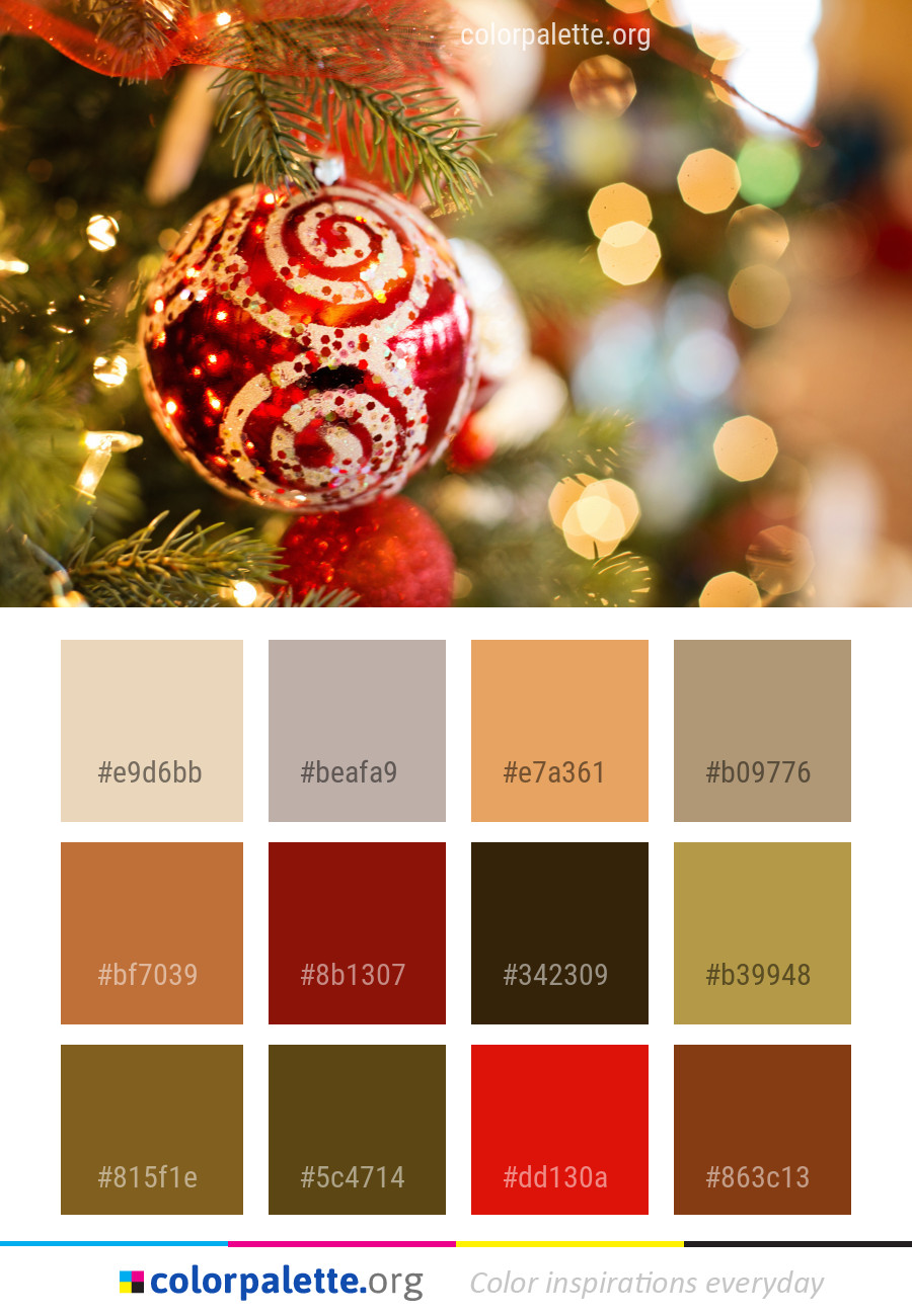 Palettes Décoration Christmas Decoration Ornament Color Palette Colorpalette Org