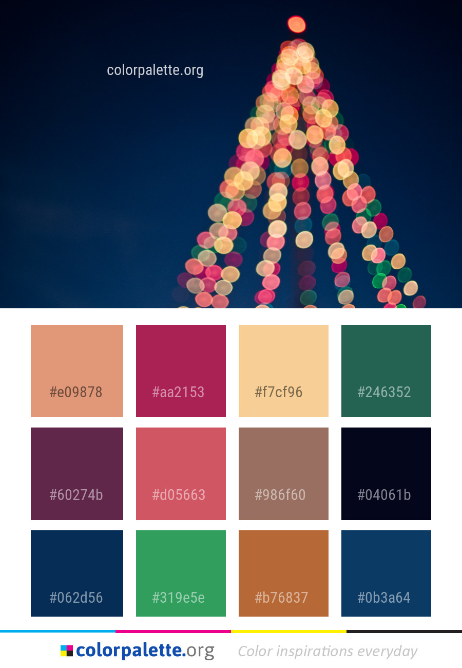Palettes Décoration Christmas Tree Decoration Color Palette Colorpalette Org