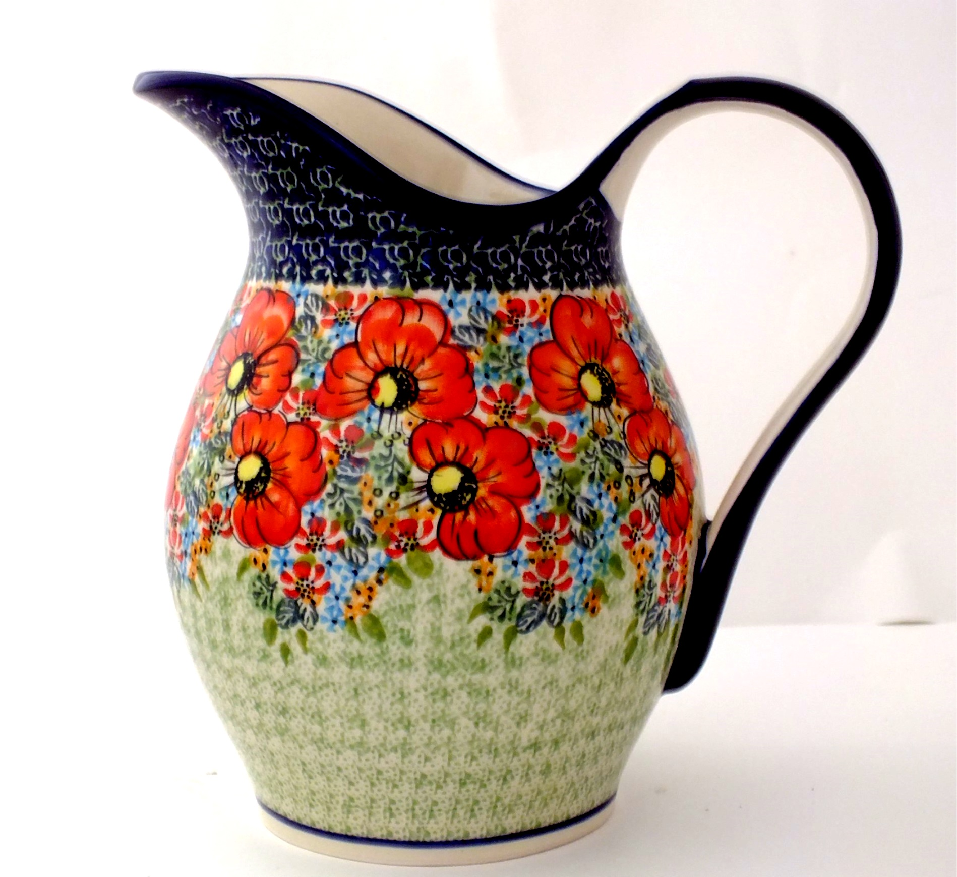 Water Pitcher Ceramic Color Palette Polish Pottery 64 Oz Water Pitcher Stoneware