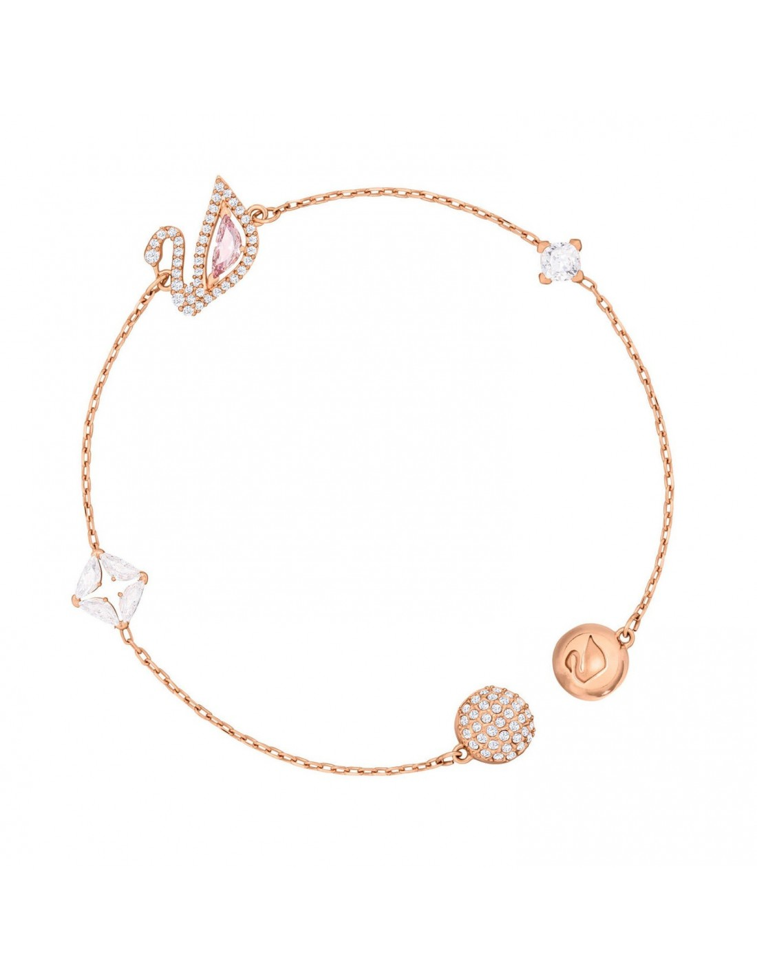 Rose Gold Armband Dazzling Swan Bracelet Swarovski Gold Plated Rose Gold 5472271