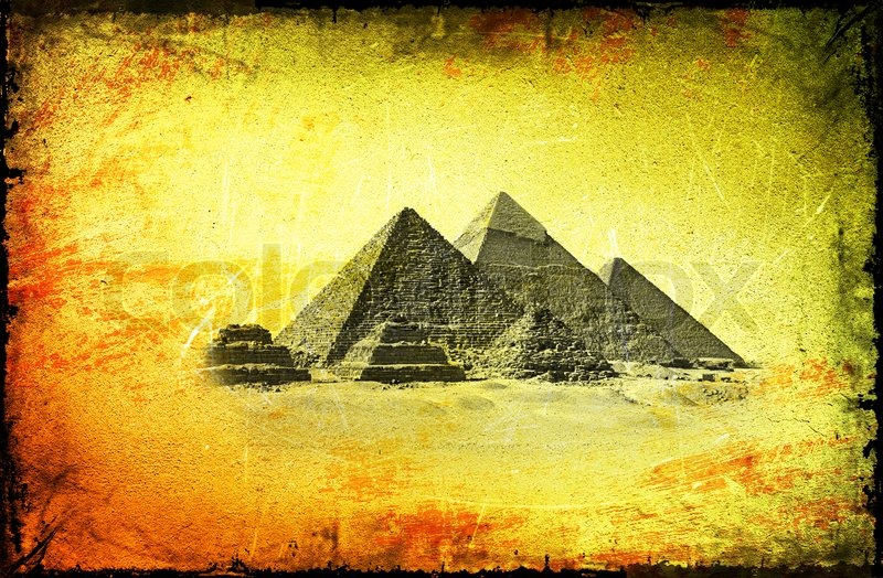 Background with ancient Egyptian pyramids