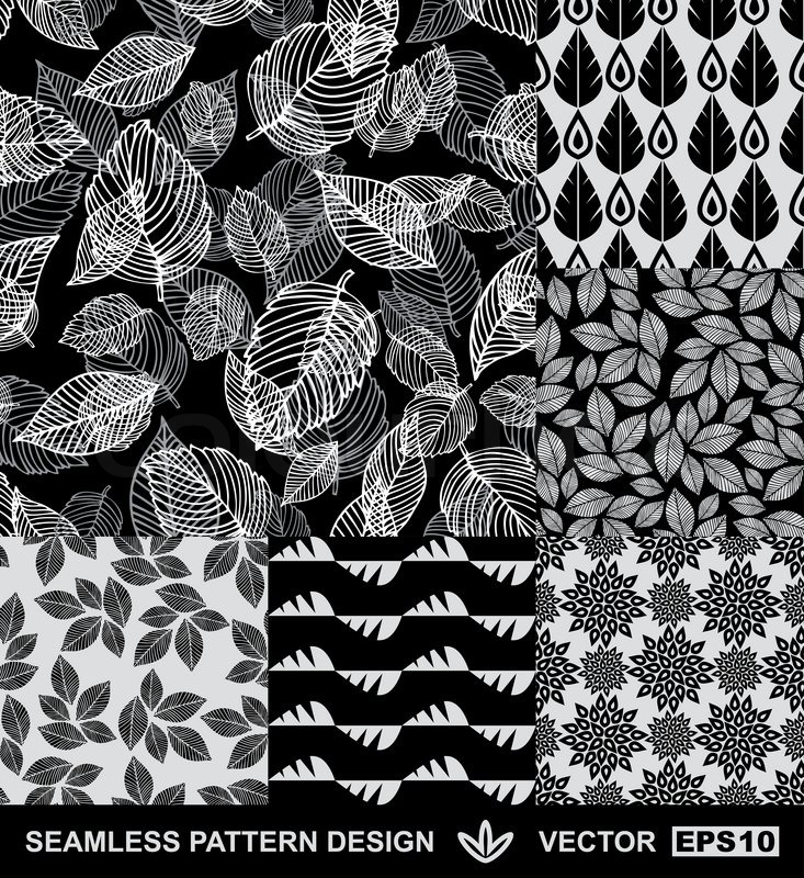 Stoff Geometrische Muster Abstract Backgrounds Set , Monochrome Vektor Wallpapers