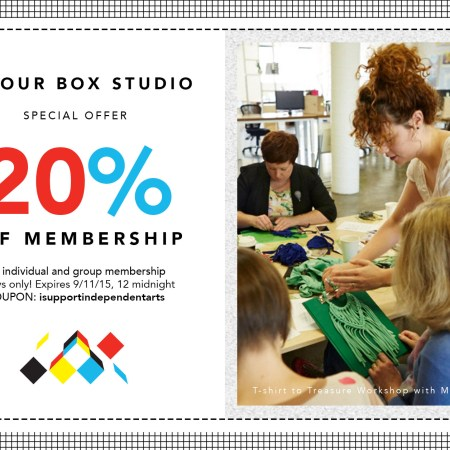 30% Colour Box Studio Membership until midnight 9 November 2015.