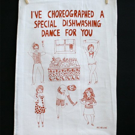 Able and Game Dishwashing Dance Tea Towel CBS Online