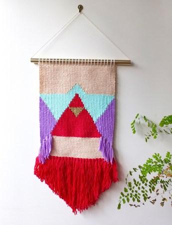 Lulu, woven wall hanging, Catherine Hallam.