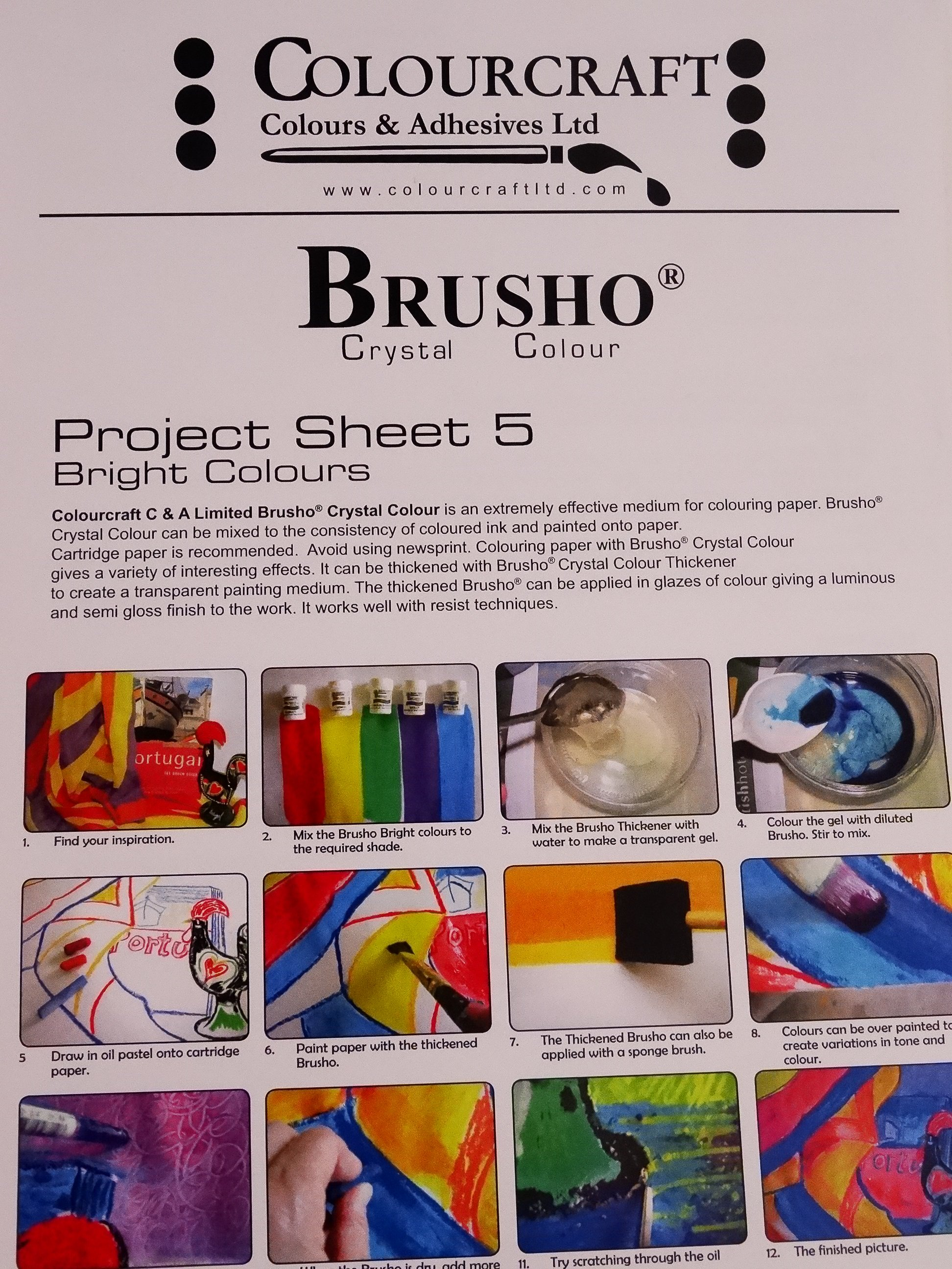Bright Colours Painting Brusho Project Sheet 5 Bright Colours Painting Project