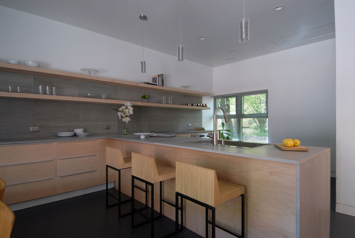 Kitchen Shelves Instead Of Cabinets Plywood Kitchen Cabinets 5 Design Ideas Using Hardwood
