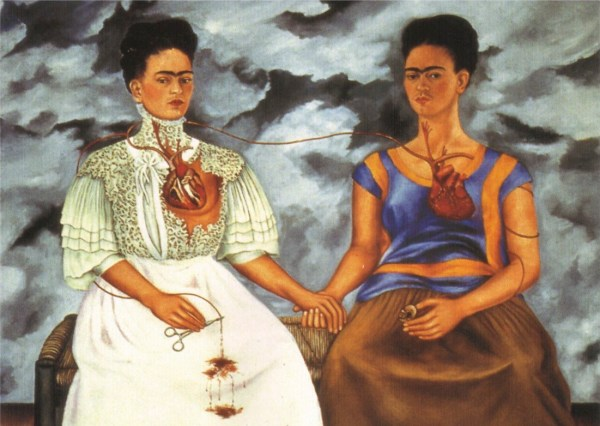 """""""The Two Fridas"""" by Frida Kahlo (1939)"""