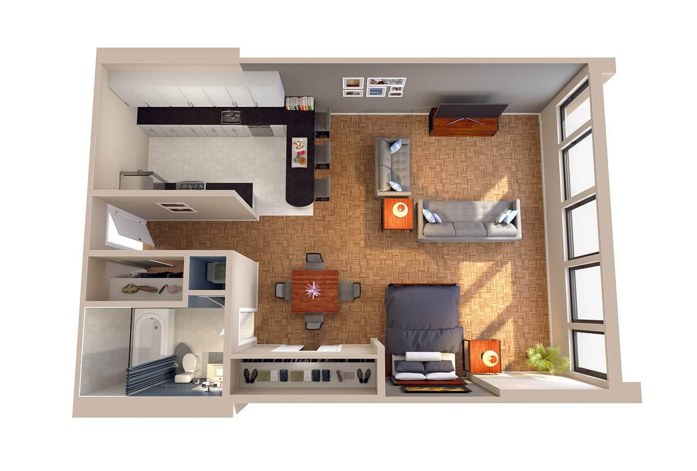 What Are Studio Apartments Diplomat Floor Plans Columbia Plaza Apartments