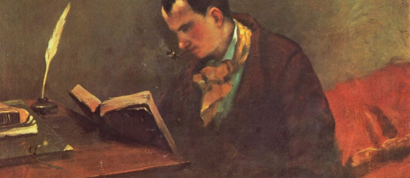 Retrato de Charles Baudelaire, por Gustave Courbet, 1848-1849, óleo sobre tela.