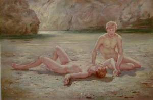 Noonday Heat, de Henry Scott Tuke, impressionista britânico.