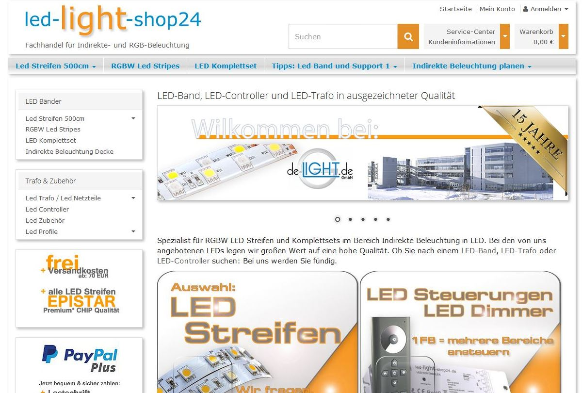 Led Light Shop 24 Referenzen Der Cin Gmbh