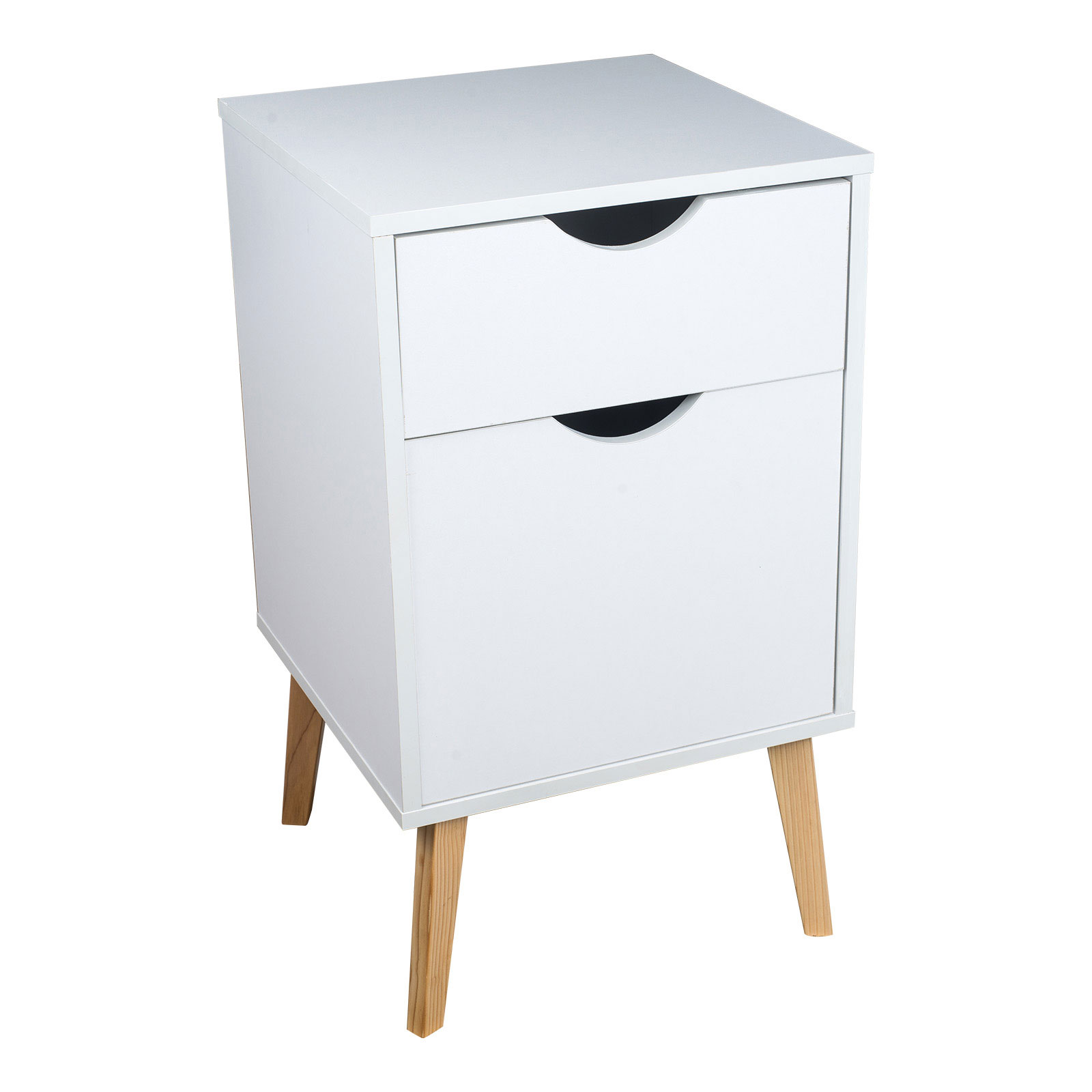 White Bedside Drawers White Storage Unit Table Home Bedside With 2 Drawers