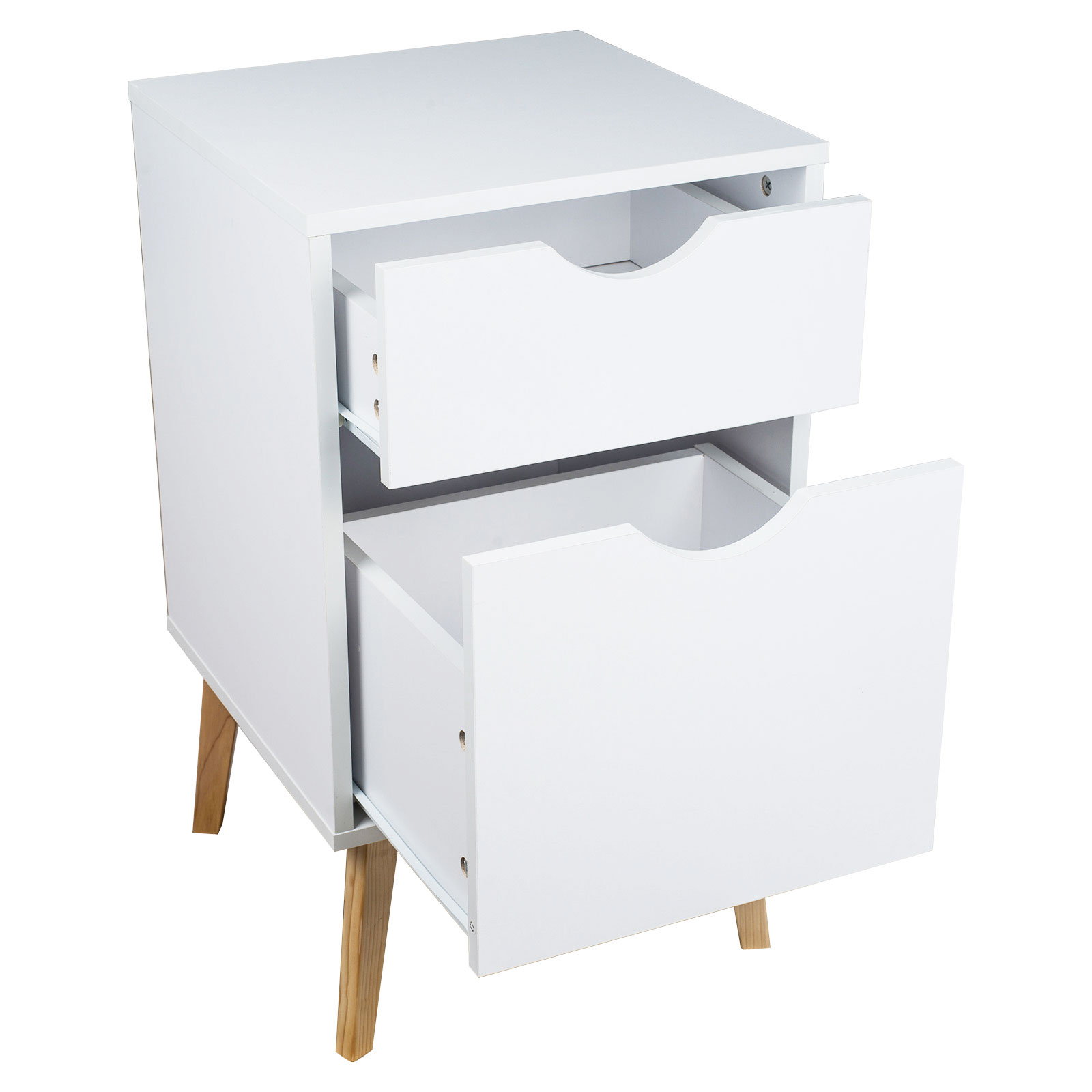 White Bedside Drawers Brand New White Bedside W 2 Drawer Wooden Table Cabinet