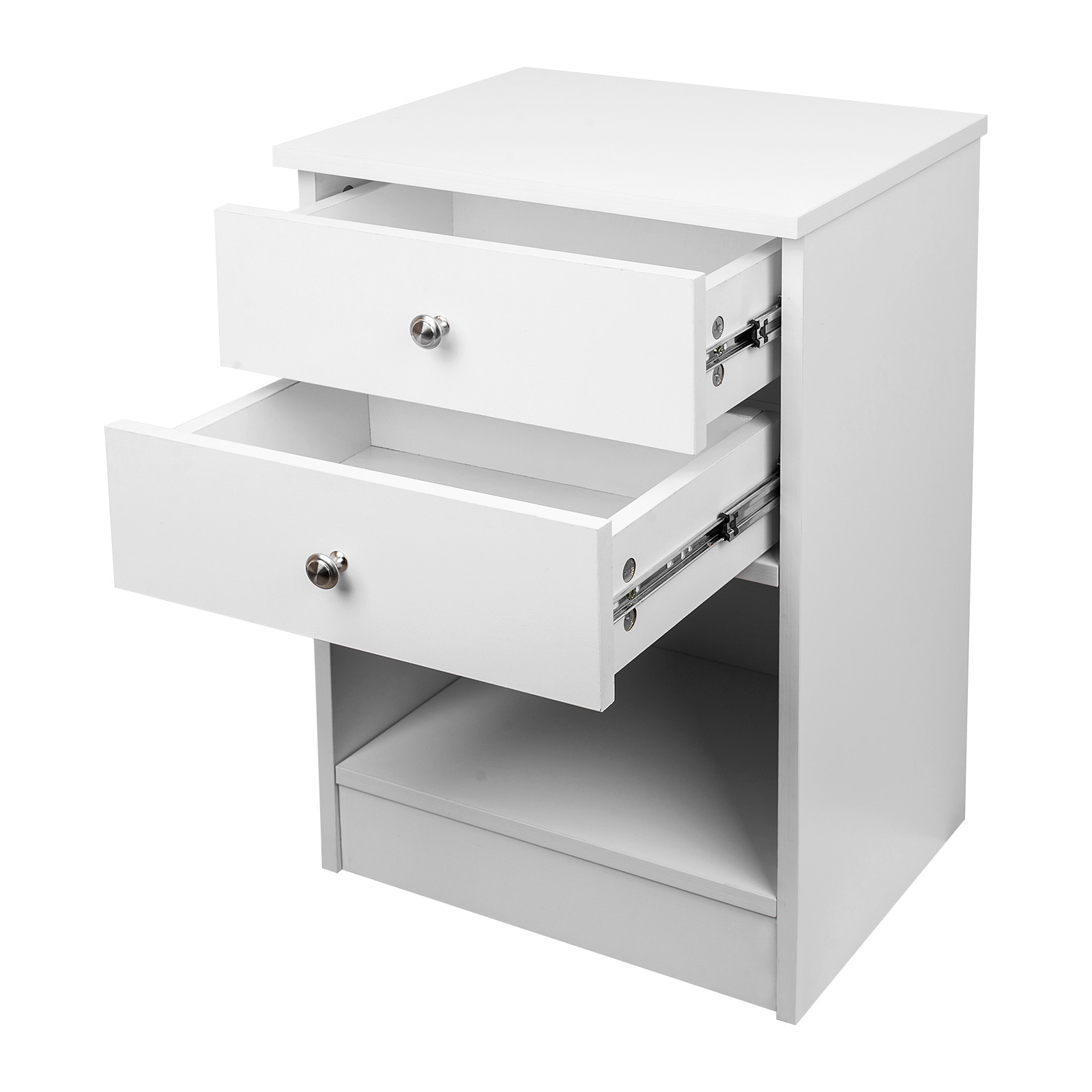 White Bedside Drawers White Black Bedside With 2 Drawers Wooden Cabinet Side