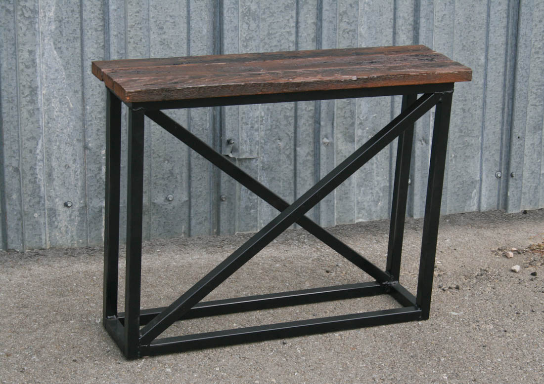 Small Industrial Side Table Combine 9 Industrial Furniture Industrial Console