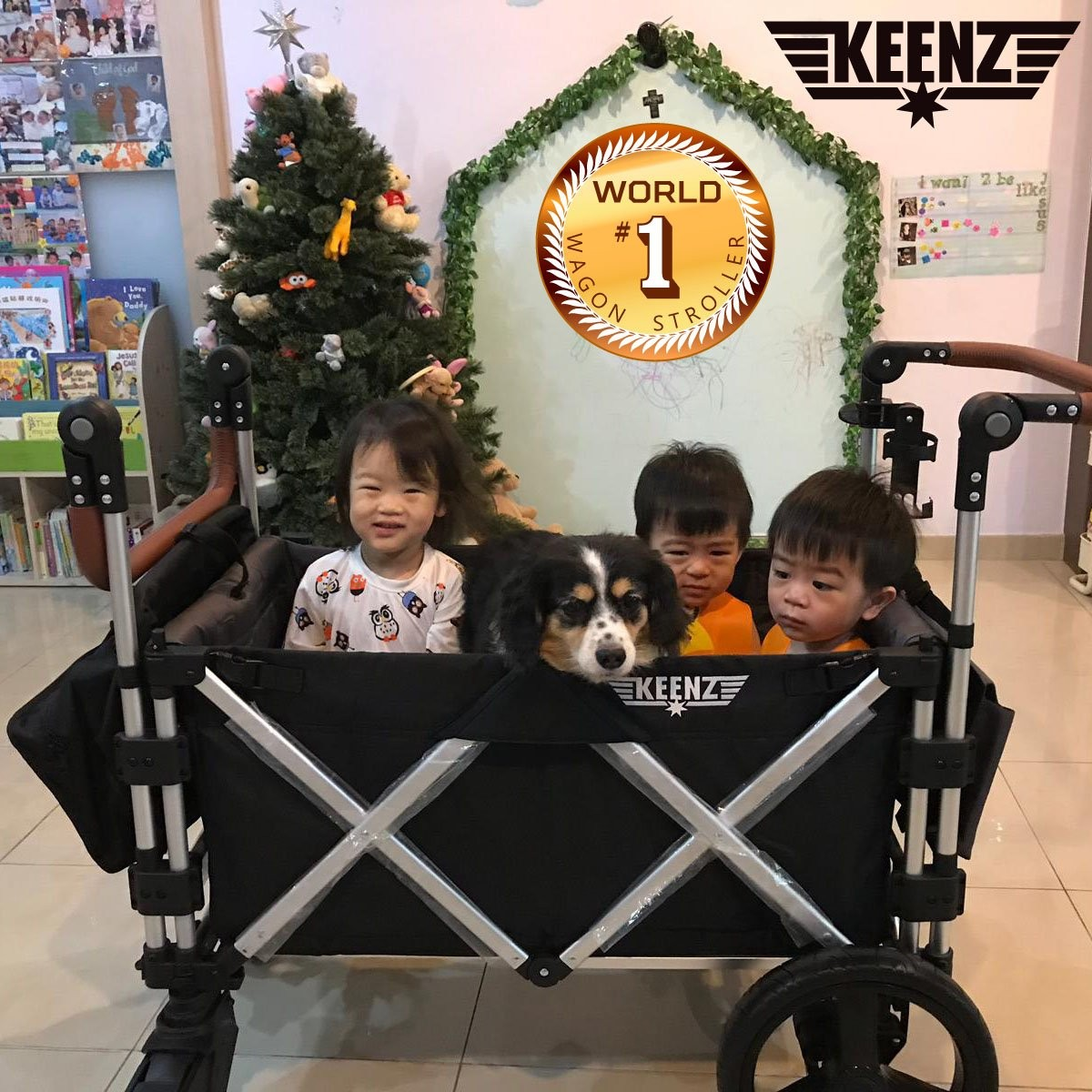Triple Pet Stroller Keenz 7s Premium Deluxe Foldable Wagon Stroller World No 1 Wagon Stroller Freebies