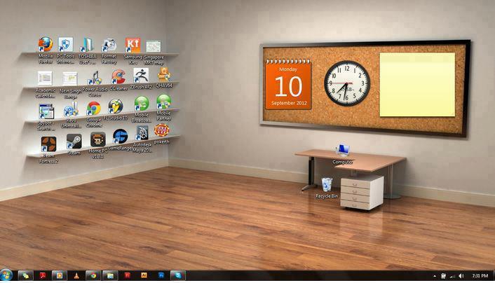 Classic 3d Desktop Workplace Wallpaper Fence Desktop Un Programme Sympa Pour Organiser Votre
