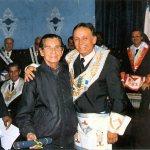 VM.·.Marcus Kleber e o Ir.·. George Savalla (Carequinha)