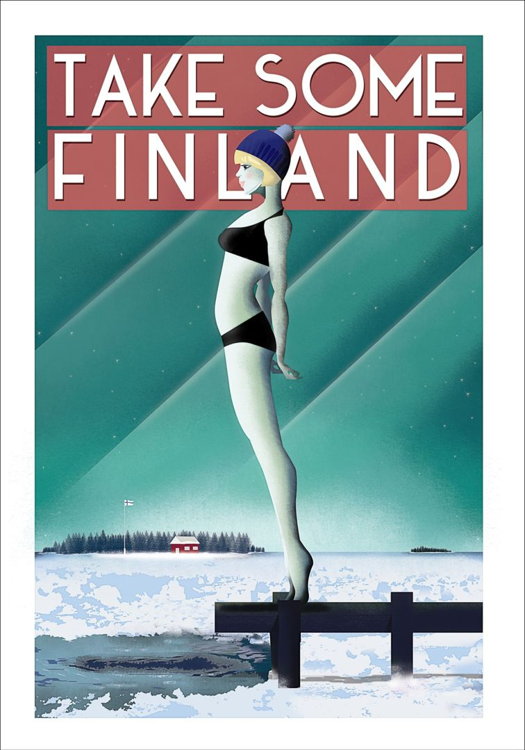 50x70 Poster Take Some Finland By Omar Escalante Poster 50 X 70 Cm On Demand Print