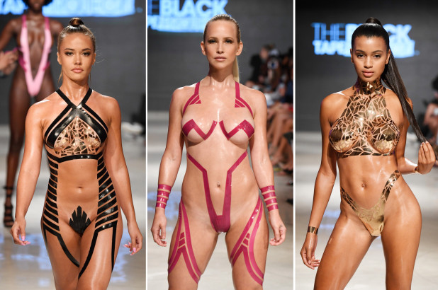 Fitness First Black Label Club Duct-tape Bikinis Look Sexy But Painful – Fashion Magazine