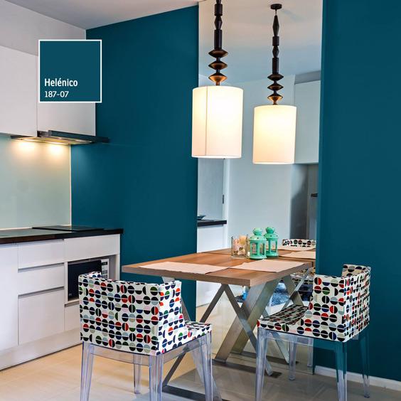 Cocina nueva 15 combinaciones de color comex xalapa for Pintura cocina pato azul
